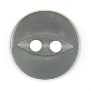 Round Grey Button 11mm