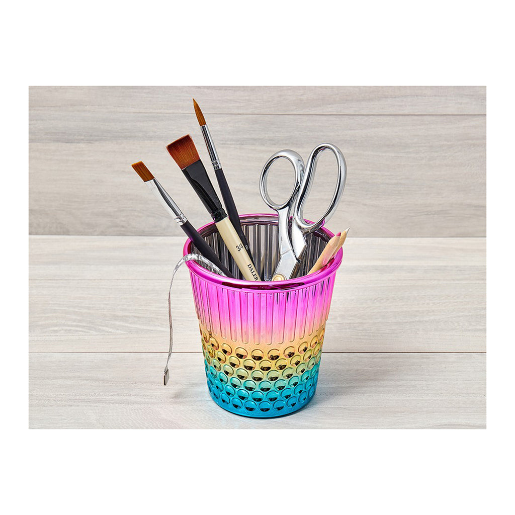 Rainbow Thimble Craft Container