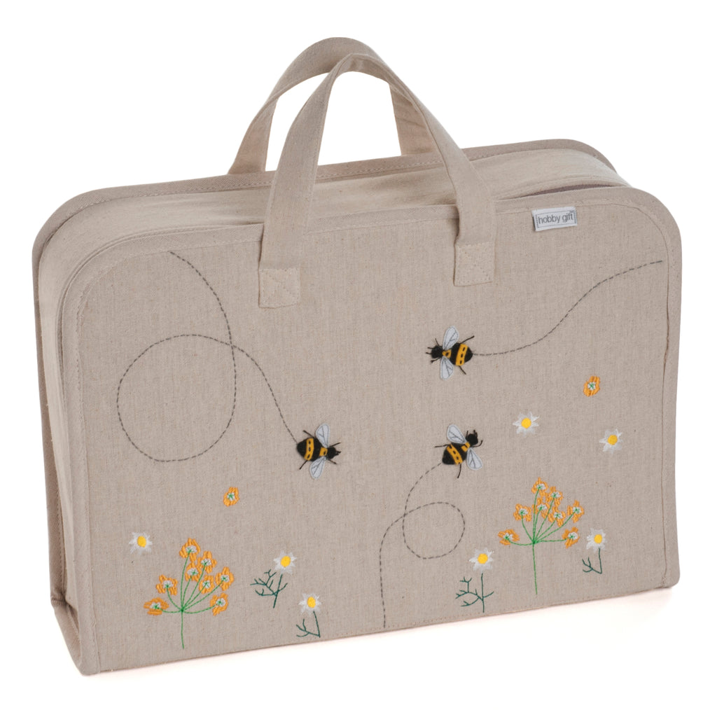 Bee Appliqué Craft Project Suitcase