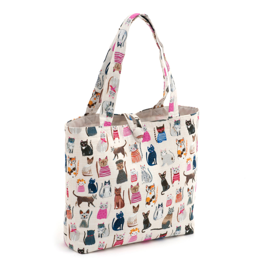 Cats in Jumpers Shoulder Knitting Craft Bag
