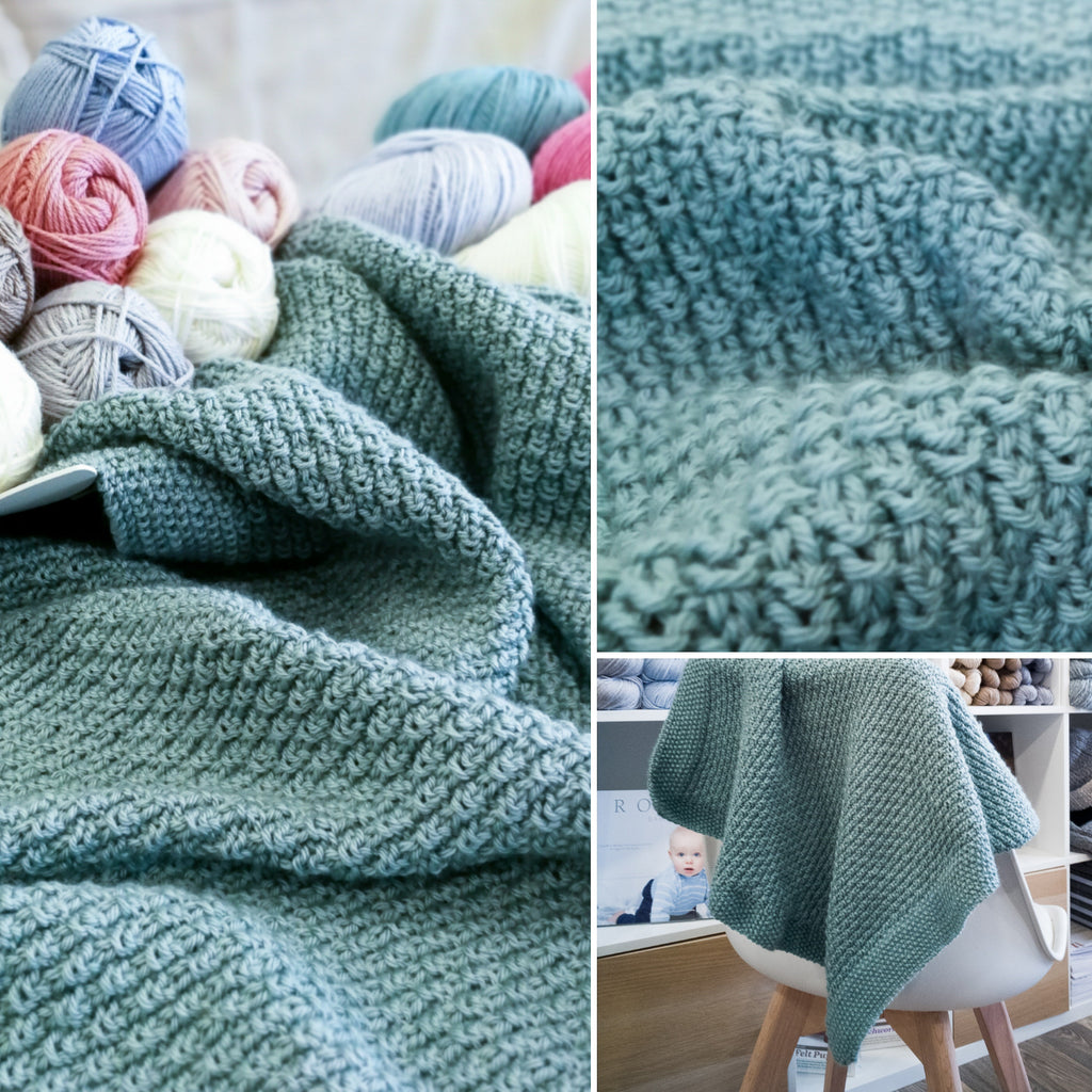 Scottish Raindrops Baby Blanket by Tilde Olsen (PDF pattern)