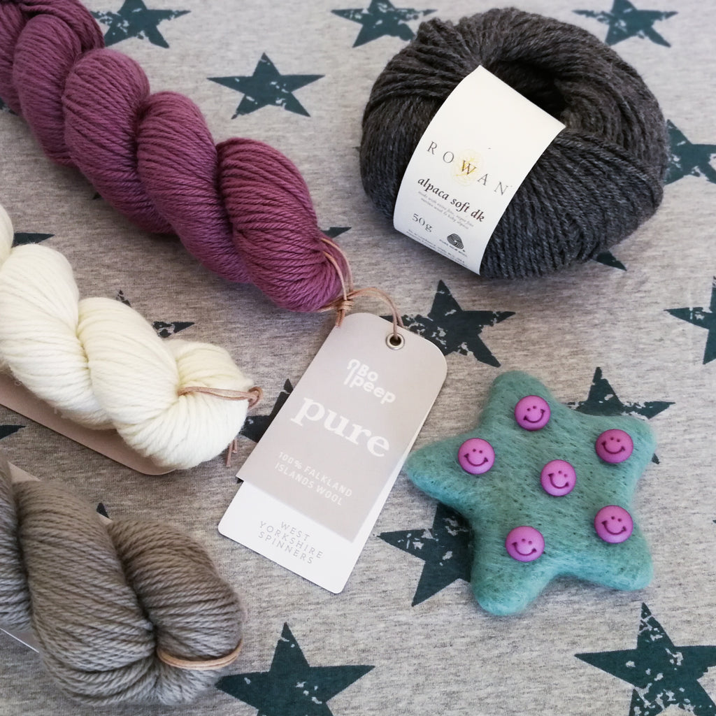 4 Colour Baby Cardigan Yarn Pack