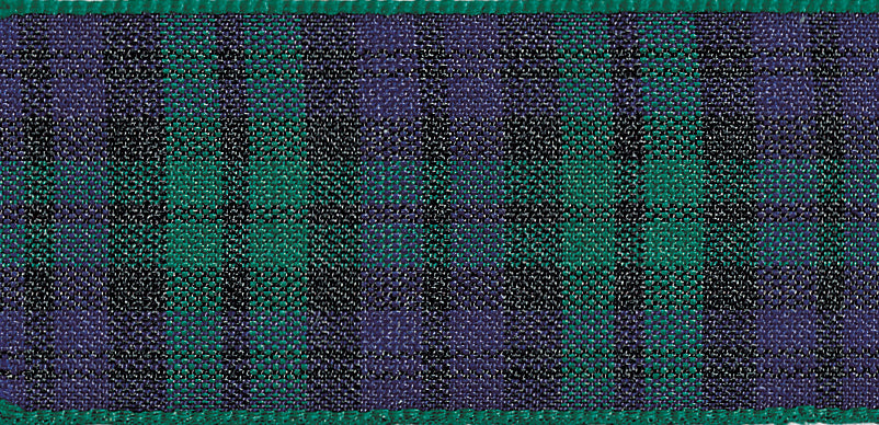 Berisfords Blackwatch Tartan Ribbon - 25mm