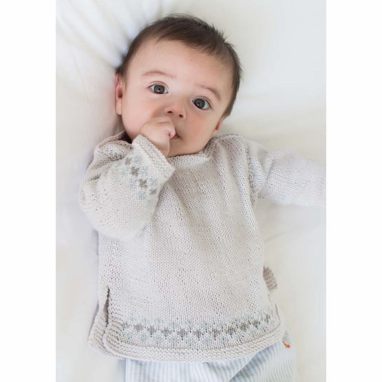 Rowan Unisex Boatneck Baby Sweater Pattern By Linda Whaley