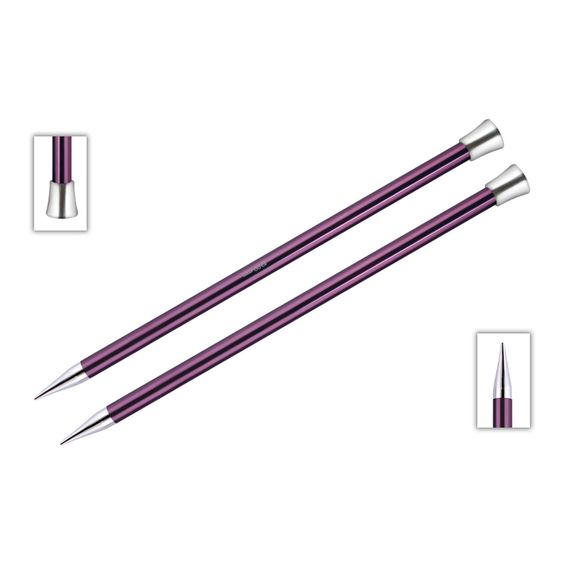 KnitPro Single Pointed Knitting Needles - Zing - 30cm