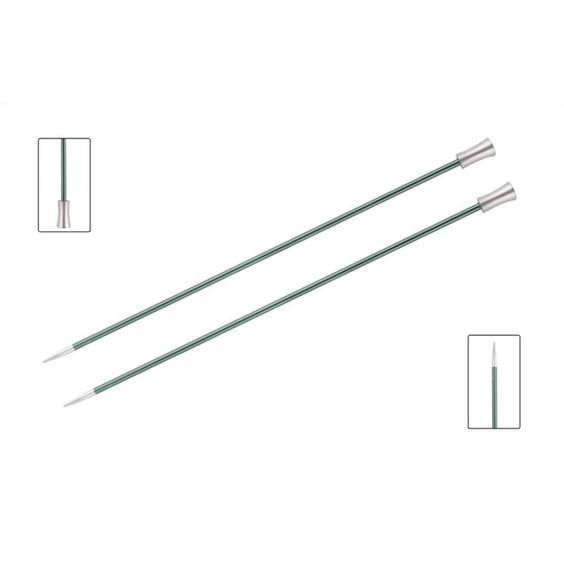 KnitPro Single Pointed Knitting Needles - Zing - 35cm