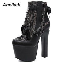Load image into Gallery viewer, Aneikeh Winter Chain & Rivet Womens Boots