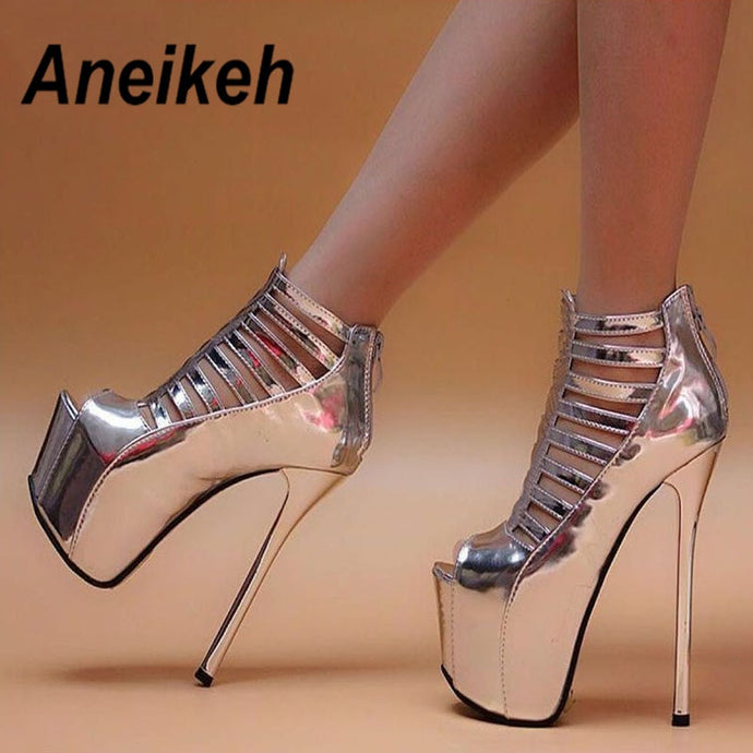 Aneikeh High Heel Bootie Sandals