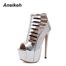 Load image into Gallery viewer, Aneikeh High Heel Bootie Sandals