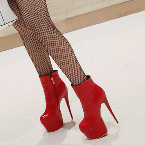 Ankle High Heel Boots