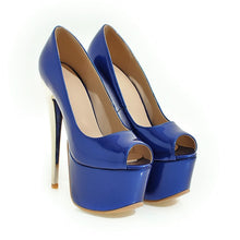 Load image into Gallery viewer, Sandy Peep Toe Heels