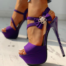 Load image into Gallery viewer, Dora High Heel Sandals with ankle bow