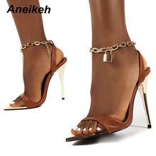 Load image into Gallery viewer, Brown high heel sandals