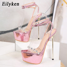 Load image into Gallery viewer, High Heel Ankle Strap Sandals