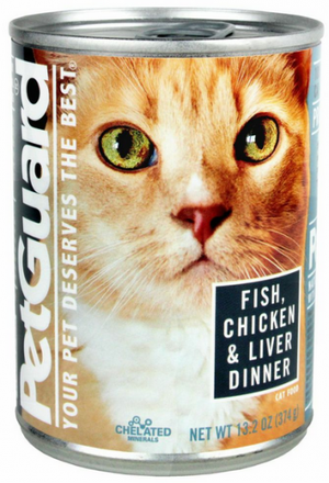 Petguard Fish Chicken and Liver Dinner Canned Cat Food