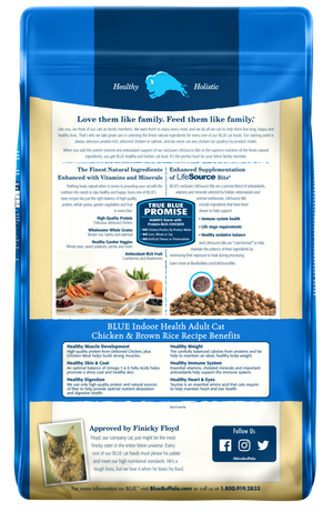 Blue Buffalo Indoor Health Chicken and Brown Rice Recipe Dry Cat Food