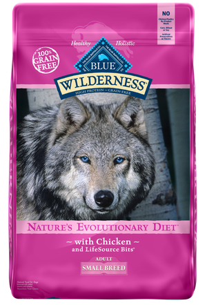 Blue Buffalo Wilderness Grain Free Small Breed  Chicken Dry Dog Food