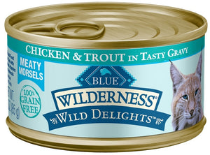 Blue Buffalo Wilderness Wild Delights Chicken and Trout Canned Cat Food