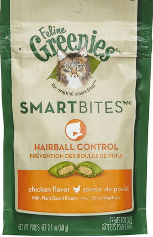 Greenies Smartbites Hairball Control Chicken Cat Treats