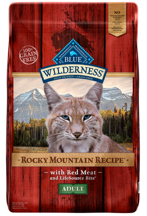 Blue Buffalo Wilderness Rocky Mountain Recipe Adult Red Meat Dry Cat Food