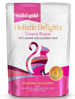 Solid Gold Grain Free Holistic Delights Shrimp Creamy Bisque Cat Food Pouches