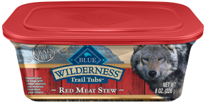 Blue Buffalo Wilderness Trail Tubs Grain Free Red Meat Stew Dog Food Tray