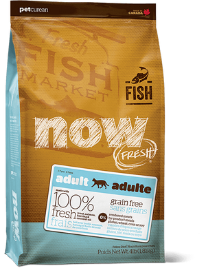 Petcurean Now! Fresh Grain Free Fish Recipe Adult Dry Cat Food