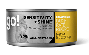 Petcurean Go! Sensitivity and Shine Grain Free Duck Pate Canned Cat Food