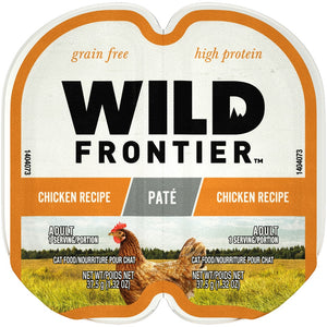 Wild Frontier Perfect Portions Grain Free Real Chicken Pate Wet Cat Food Trays