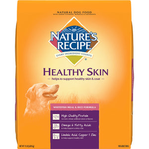 Nature's Recipe Healthy Skin Whitefish Meal and Rice Recipe Dry Dog Food