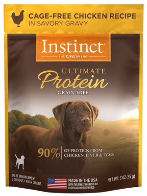 Nature's VarietyNature's Variety Instinct Ultimate Protein Grain Free Cage Free Chicken Recipe Wet Dog Food Topper Pouch