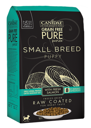 Canidae PURE Petite Small Breed Puppy Fresh Salmon Recipe Raw Coated Dry Dog Food