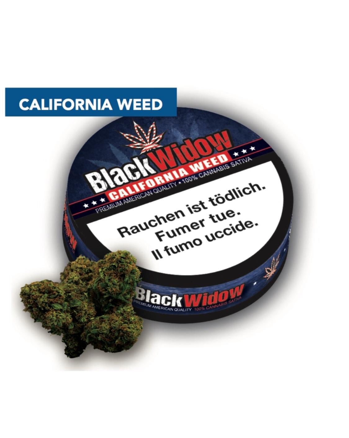 Black Widow CBD - California Weed 2g