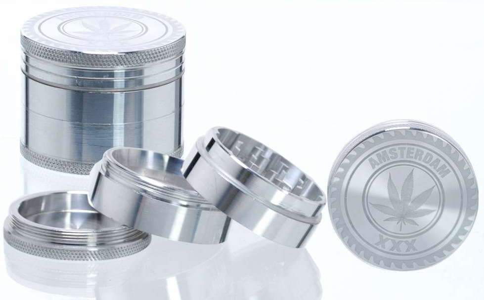 Grinder Metall 4-teilig (Amsterdam XXX) - [product_tag] - goodvibe.ch