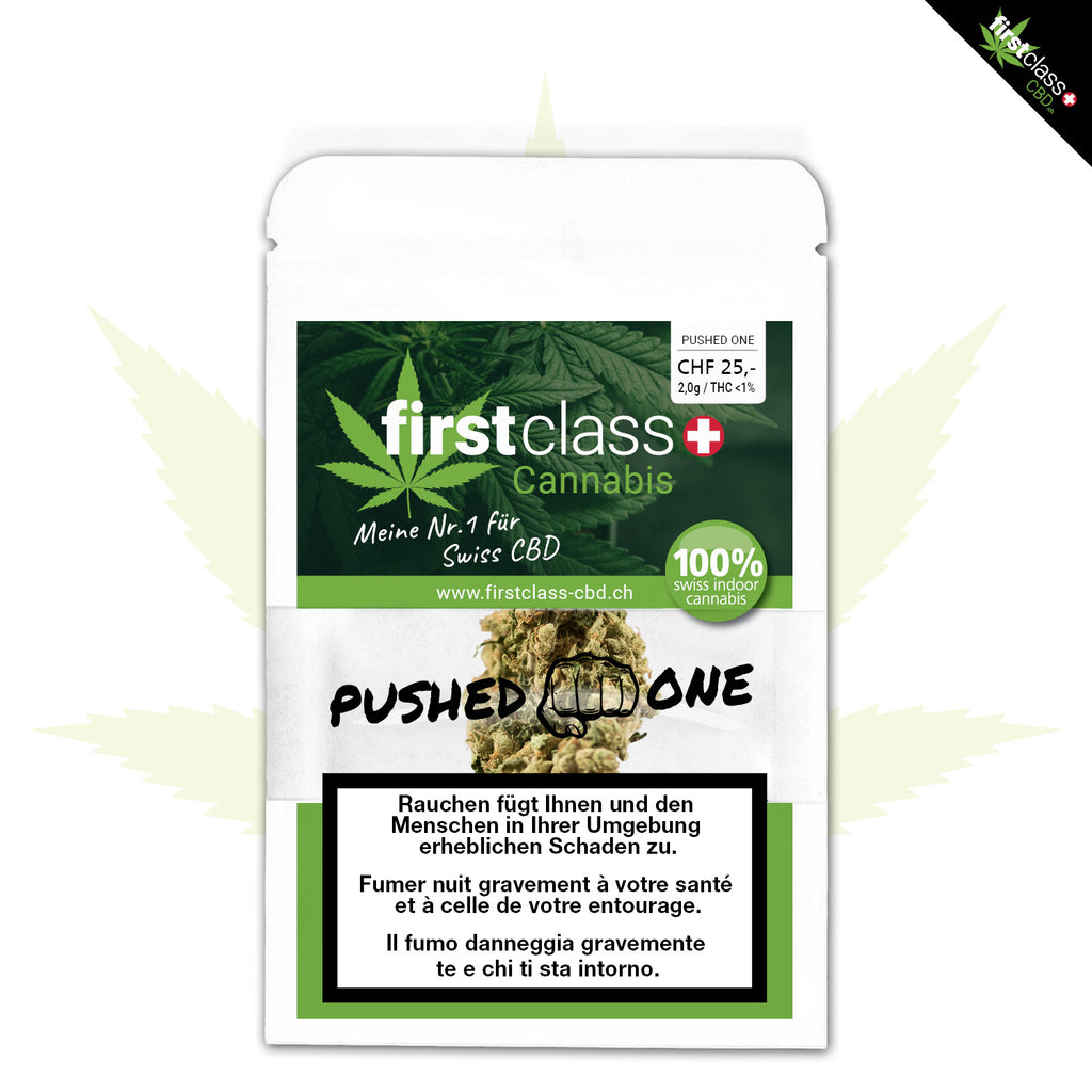 "First Class Indoor CBD ""PUSHED ONE"" 2g (Art. 35) - [product_tag] - goodvibe.ch"