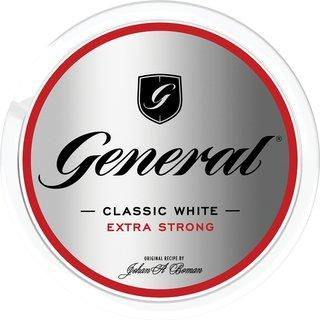 General Classic White Extra Strong 18g