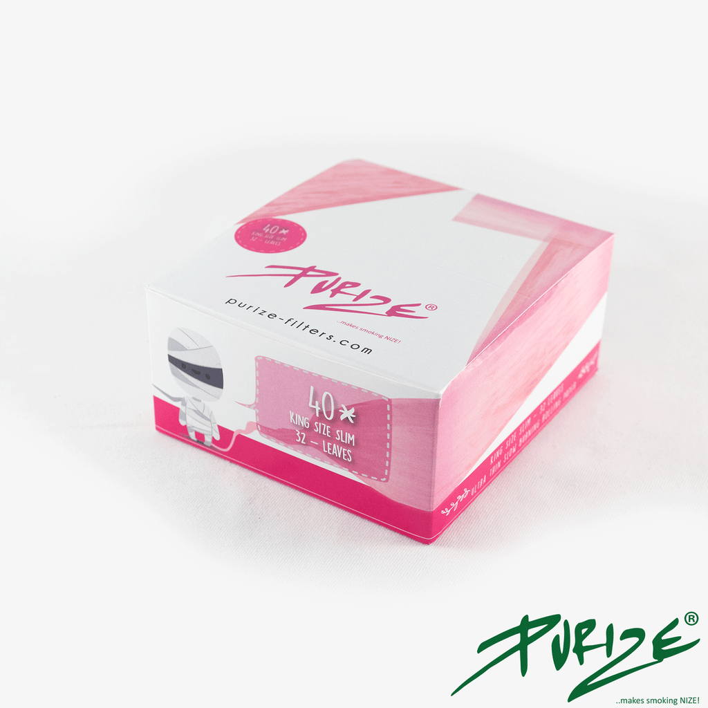 PURIZE® Pink Papers I King Size Slim I 40er (Box) - [product_tag] - goodvibe.ch