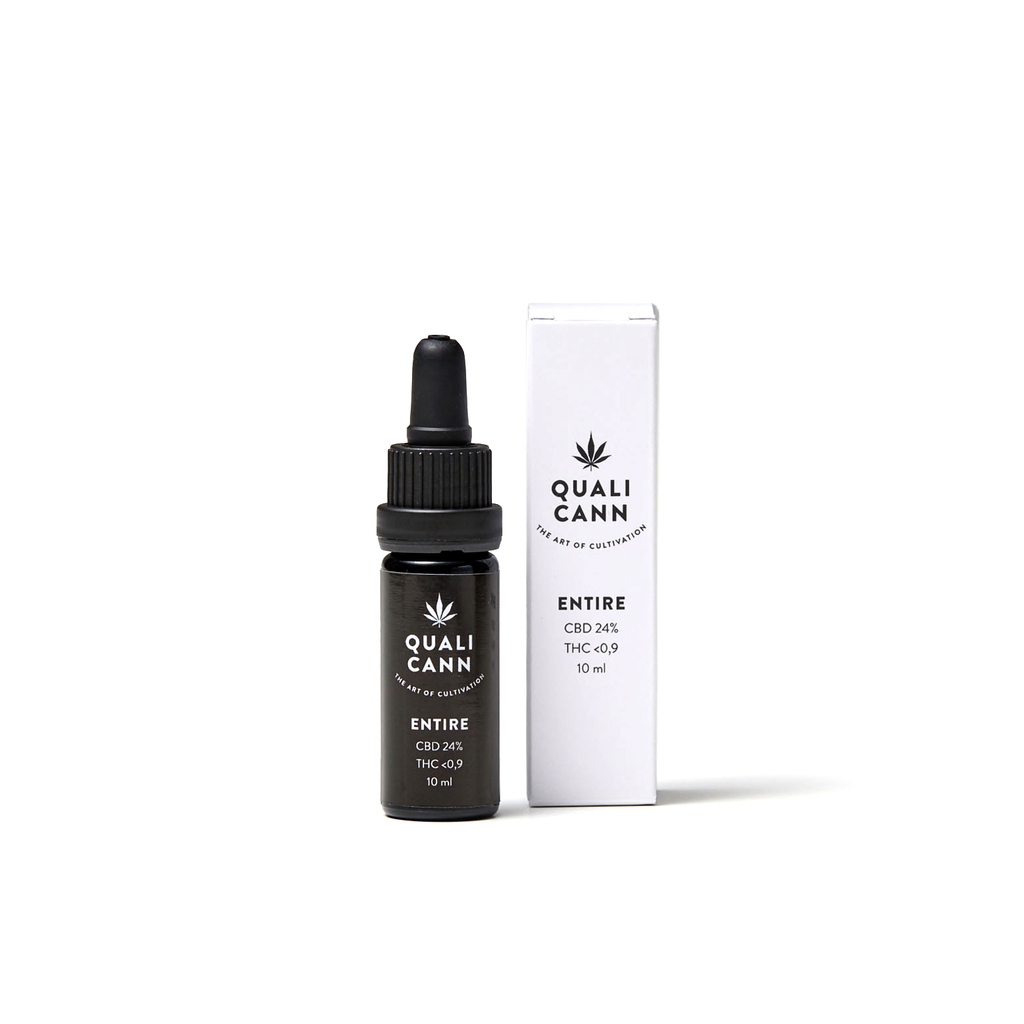 Qualicann CBD Öl Entire 10ml (CBD: 24% / THC: 0,9%) (Art. 73) - [product_tag] - goodvibe.ch