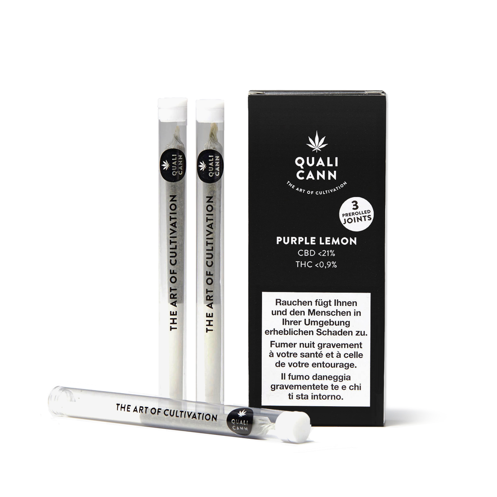 Qualicann - Pre Rolled Joints - (3 Joints) Purple Lemon (Art. 252) - [product_tag] - goodvibe.ch