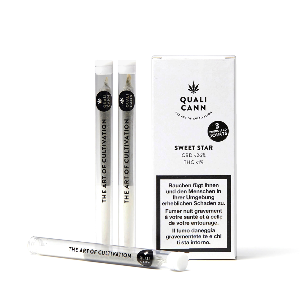 Qualicann - Pre Rolled Joints - (3 Joints) Sweet Star (Art. 253) - [product_tag] - goodvibe.ch