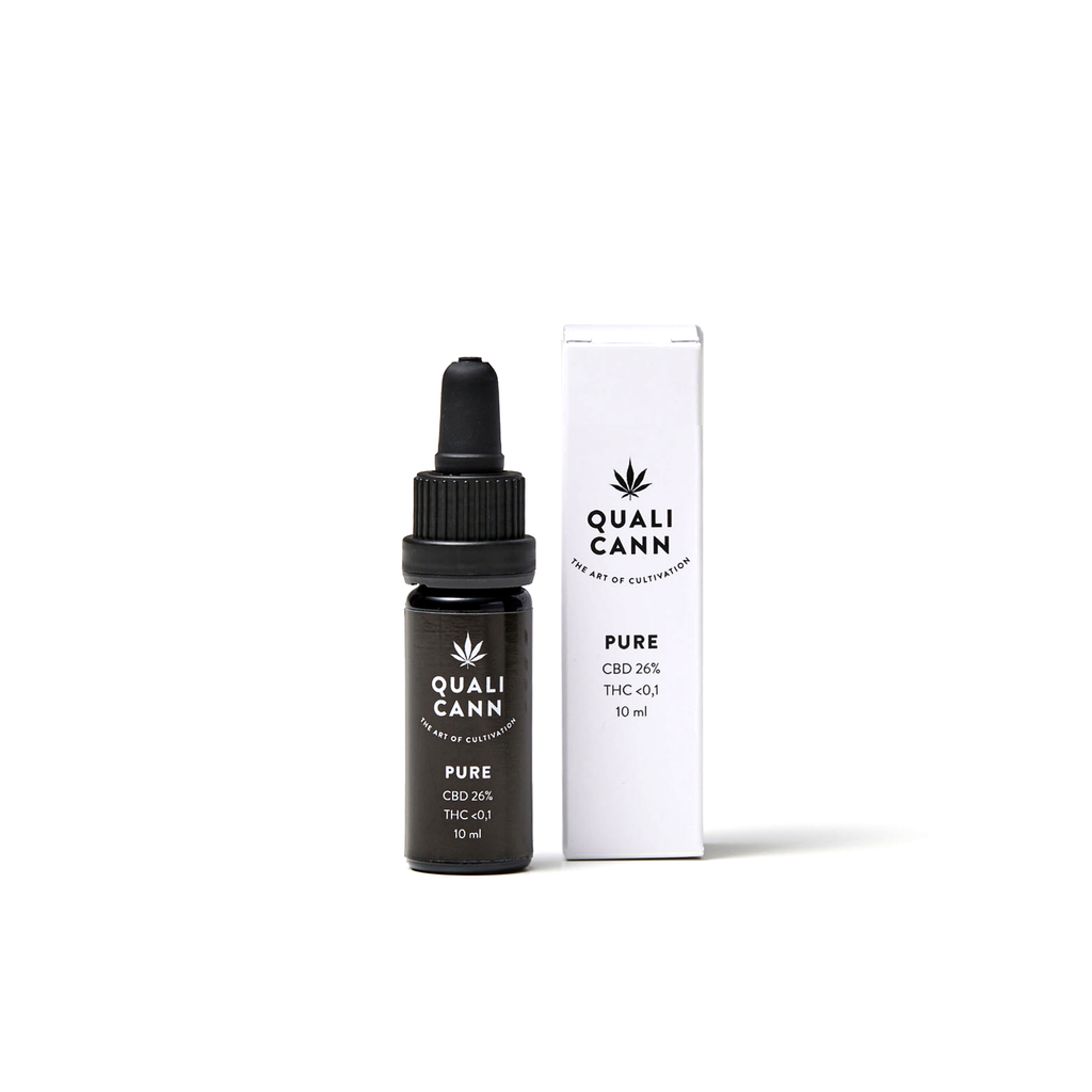 Qualicann CBD Öl Pure 10ml (CBD: 26% / THC: <0,1%) (Art. 71) - [product_tag] - goodvibe.ch