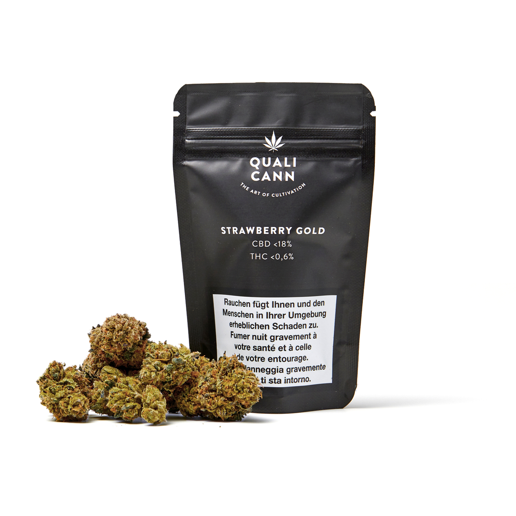Qualicann – Strawberry Gold 4.5g (Art. 18) - [product_tag] - goodvibe.ch
