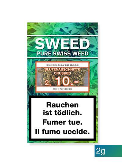 Sweed CBD-Cannabis – Super Silver Haze (Blütenabschnitte) 2g (Art. 29) - [product_tag] - goodvibe.ch