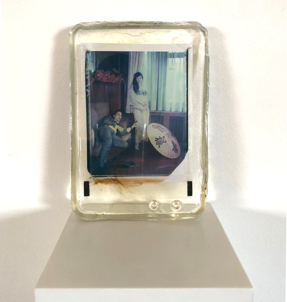 Odd Stories by Carmen De Vos - Original Polaroid cast in resin - Blue Lotus