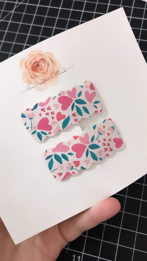 Scallop Snap Clips - ONE CLIP