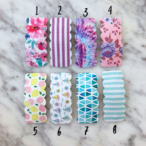 Scallop Snap Clips - PICK ONE