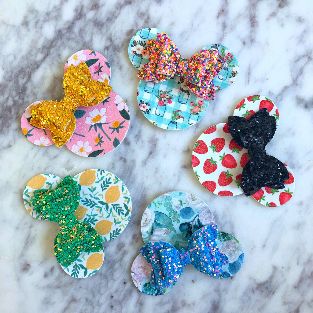 Minnie Mouse on Headbands Or Clips - PICK ONE