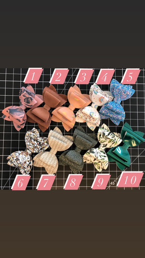 3 inch Stacked Bows - PICK ONE