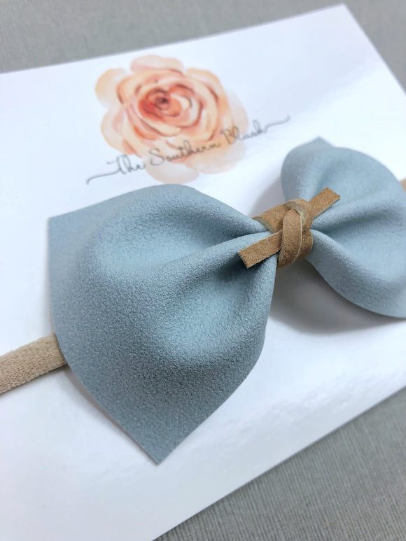 Faux Suede Pale Blue