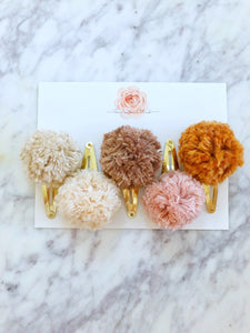 Pom Clips- 5 Choices - Pick your choice.